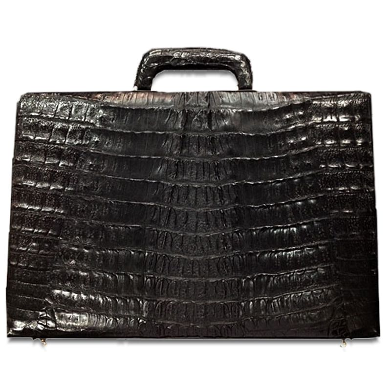 Brizio Genuine Crocodile Leather Mens Briefcase