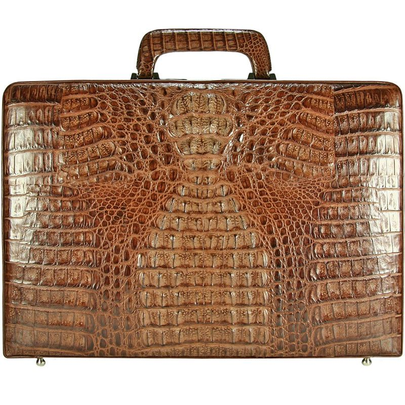 Giorgio Genuine Crocodile Leather Mens Briefcase