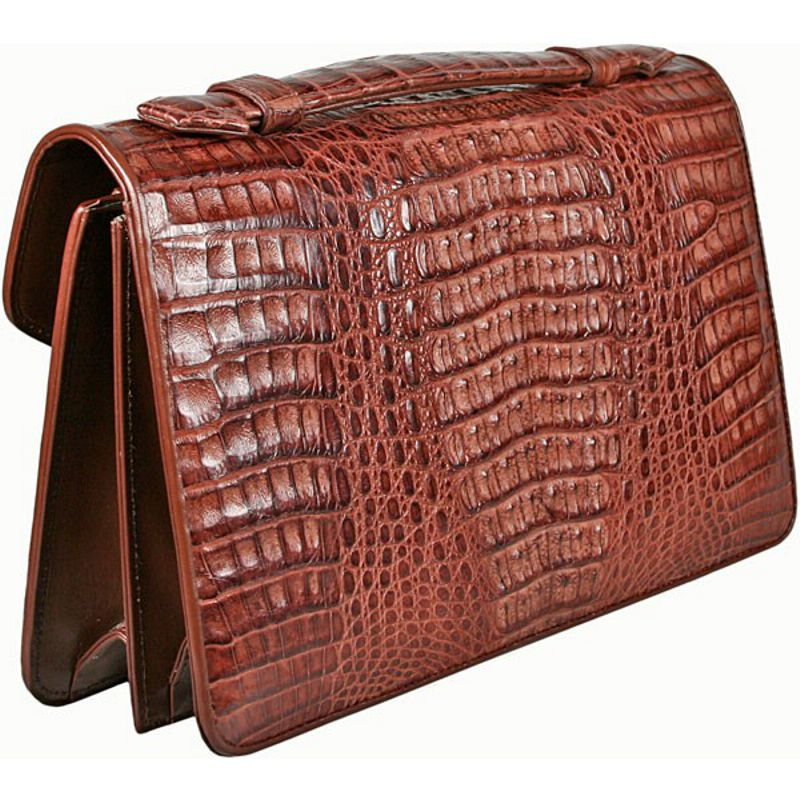 Carlo Genuine Crocodile Leather Mens Bag - back side