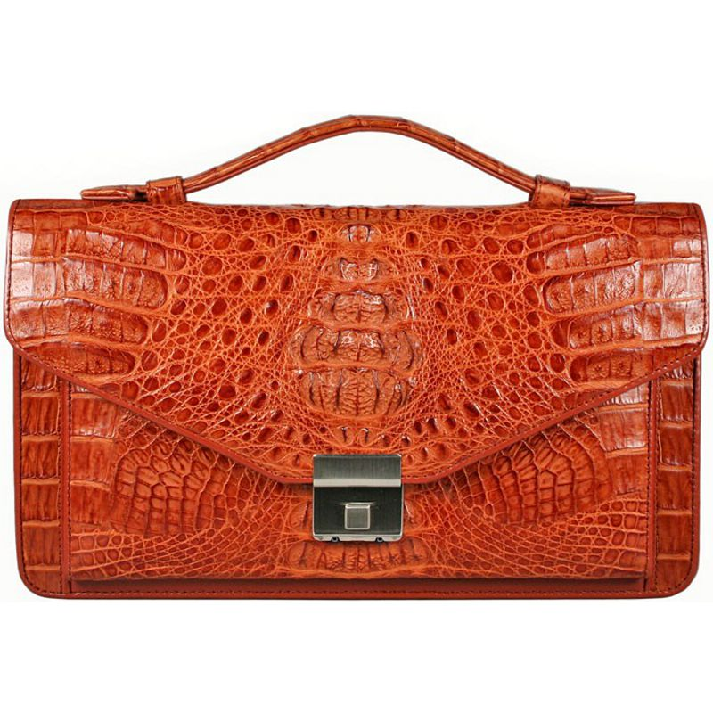 Carlo Genuine Crocodile Leather Mens Bag