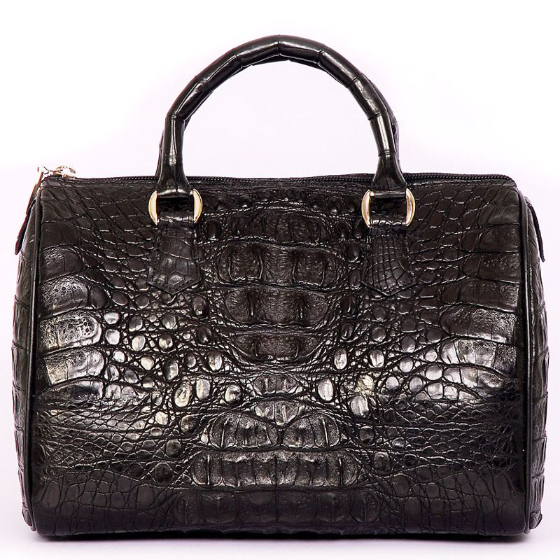 Alessia Genuine Crocodile Hornback Leather Bag