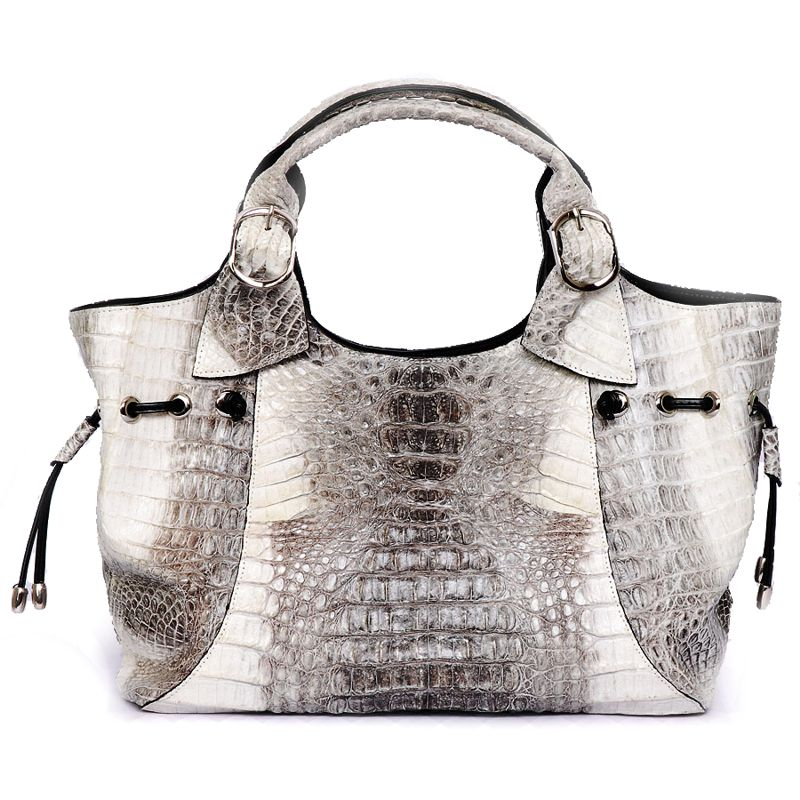 Brianna  Genuine Crocodile Hornback Leather Bag