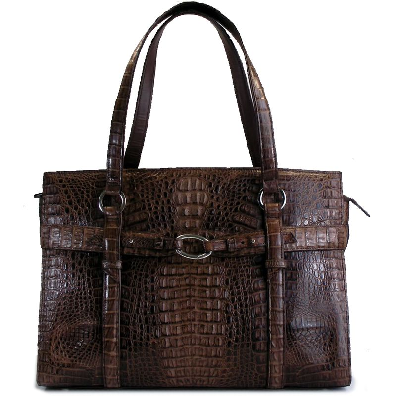Arabella Genuine Crocodile Hornback Leather Bag