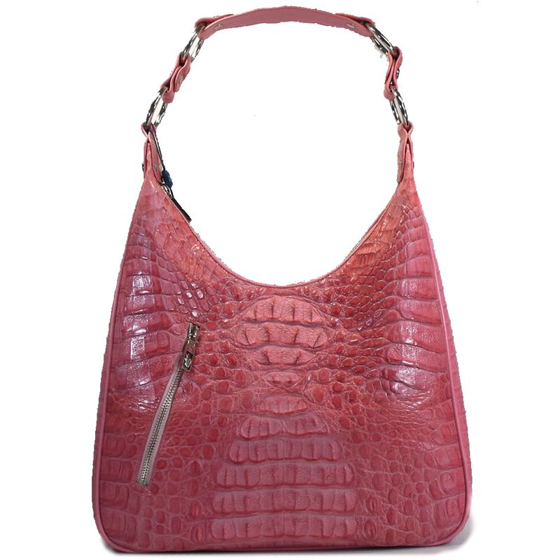 Angelica Genuine Crocodile Hornback Leather Bag