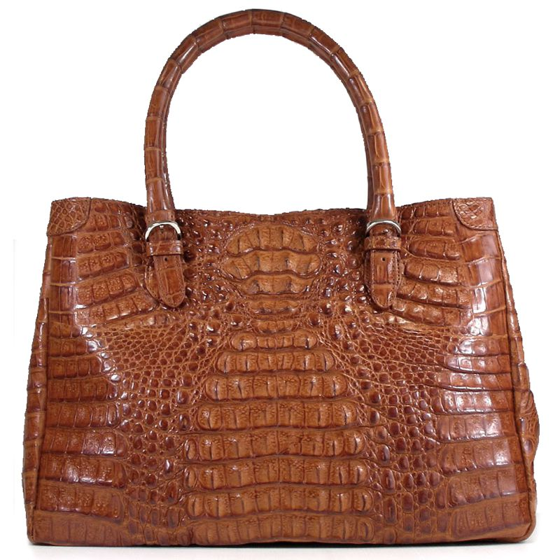 Chiara Genuine Crocodile Hornback Leather Bag