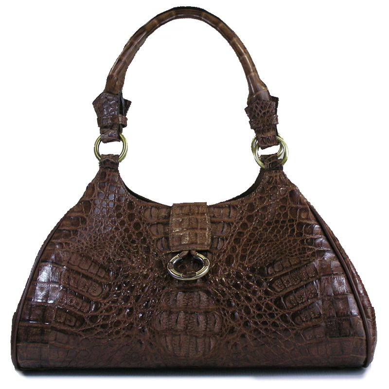 Elma Genuine Crocodile Hornback Leather Bag