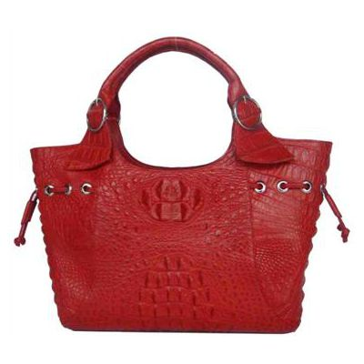 Alicia Crocodile Leather Ladies Handbag