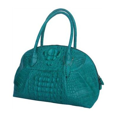 Lucy Crocodile Leather Colorful Ladies Bag - green