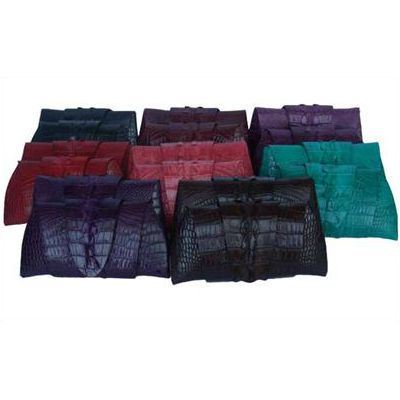 Rose Clutch Crocodile Leather Tail Twist - available colors