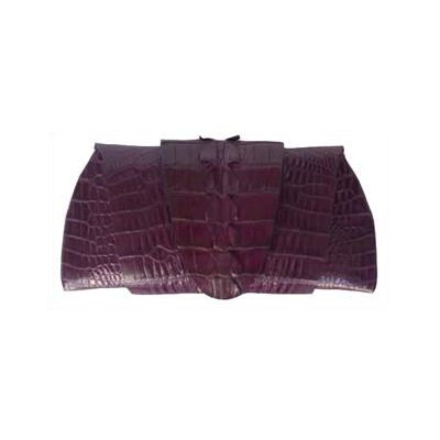 Rose Clutch Crocodile Leather Tail Twist - violet