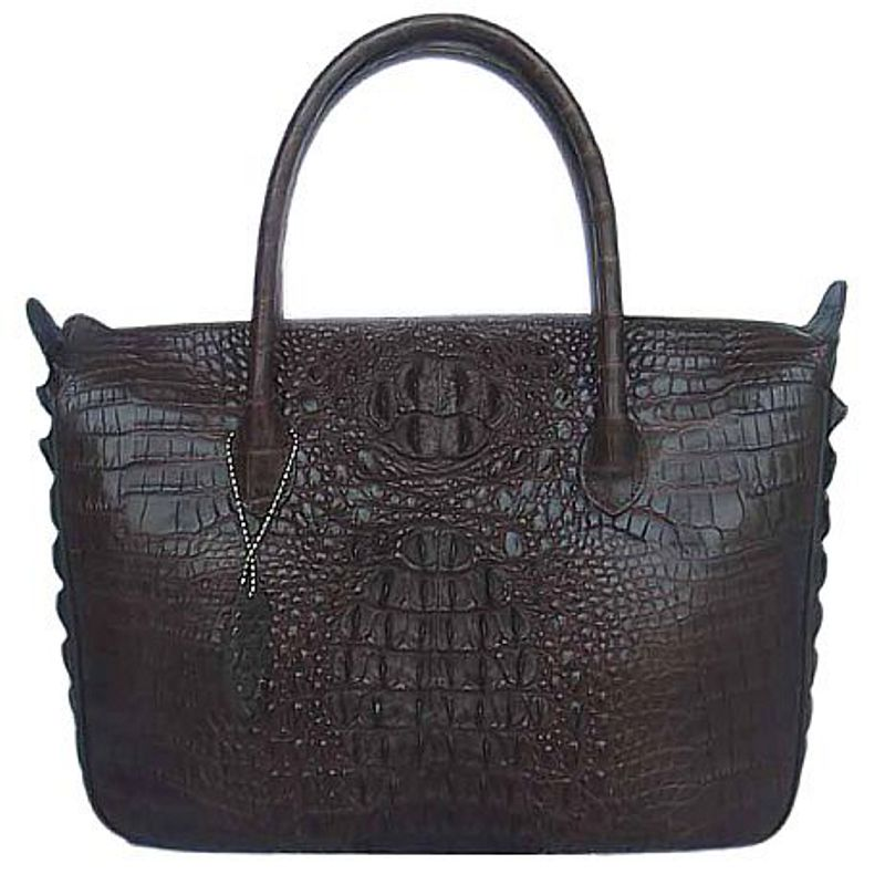 Bianca Genuine Crocodile Hornback Leather Bag
