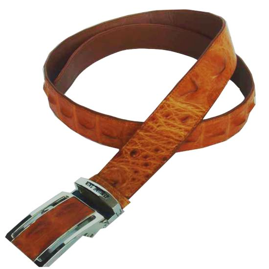 Brown Crocodile Leather Men's Belt 002