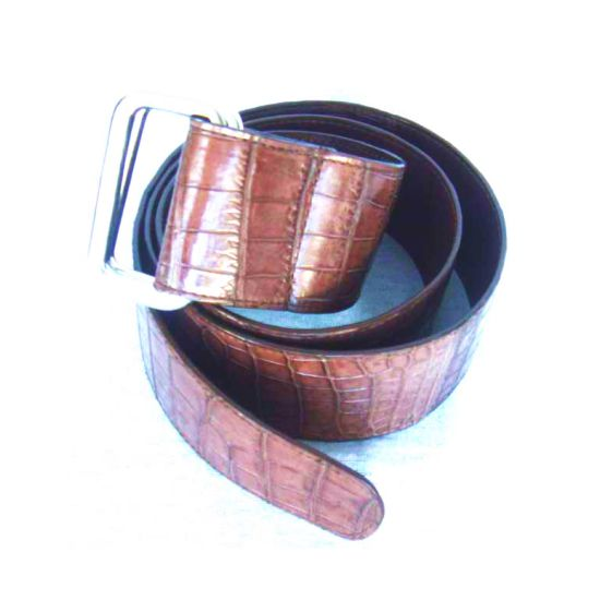 Brown Crocodile Leather Ladies Belt