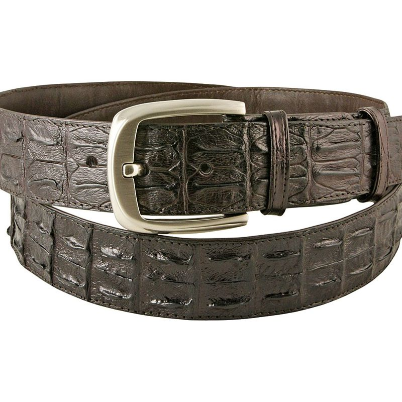 Dark Brown Crocodile Leather Mens Belt 001