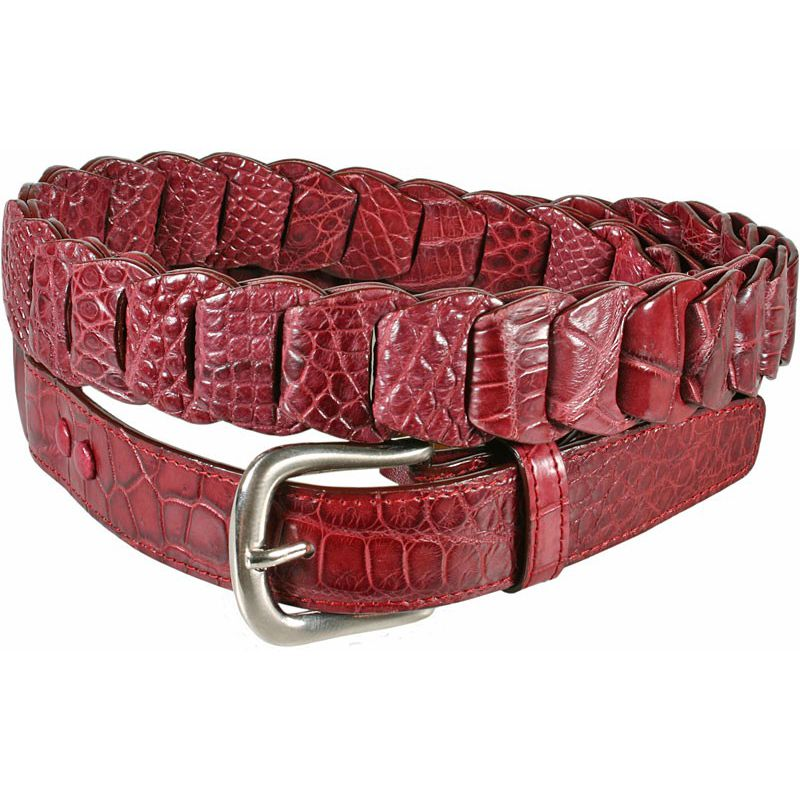 Genuine Crocodile Leather Ladies Belt 001