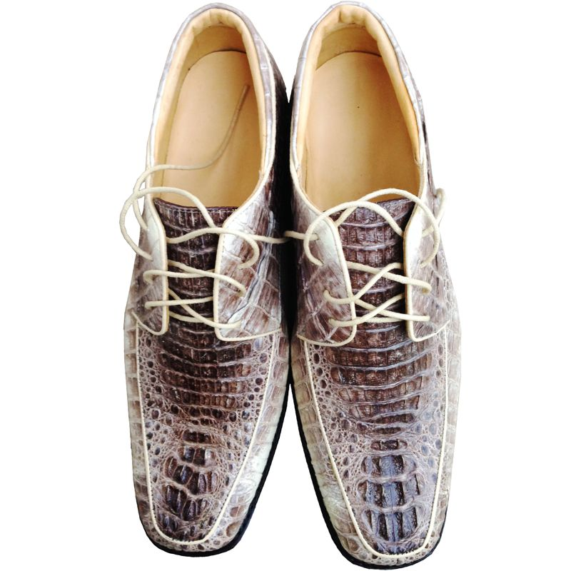 Genuine Crocodile Leather Mens Shoes 010