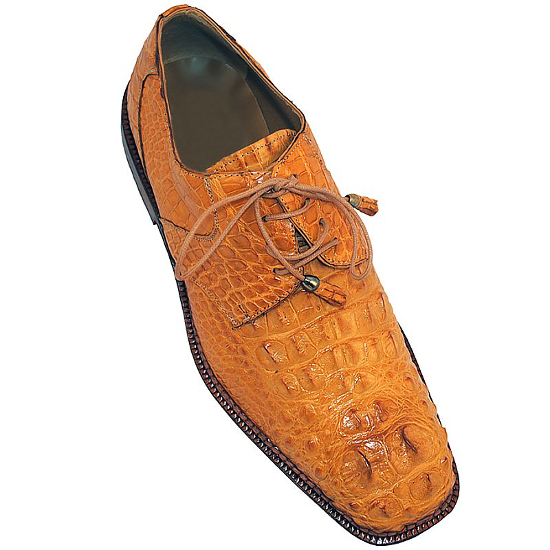 Genuine Crocodile Hornback Leather Mens Shoes 005