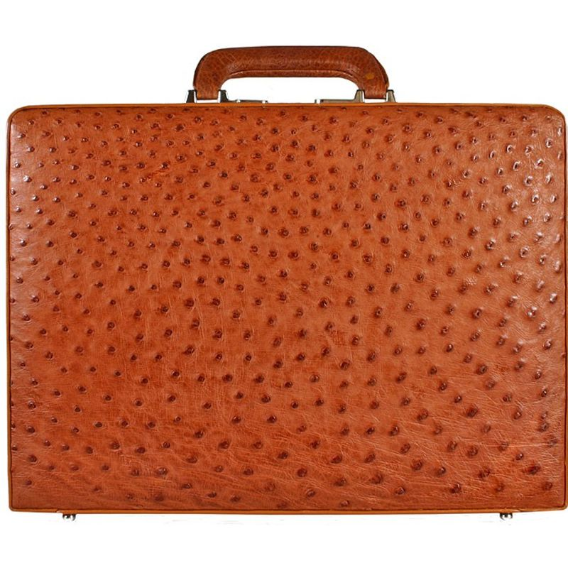 Mariano Genuine Ostrich Leather Briefcase