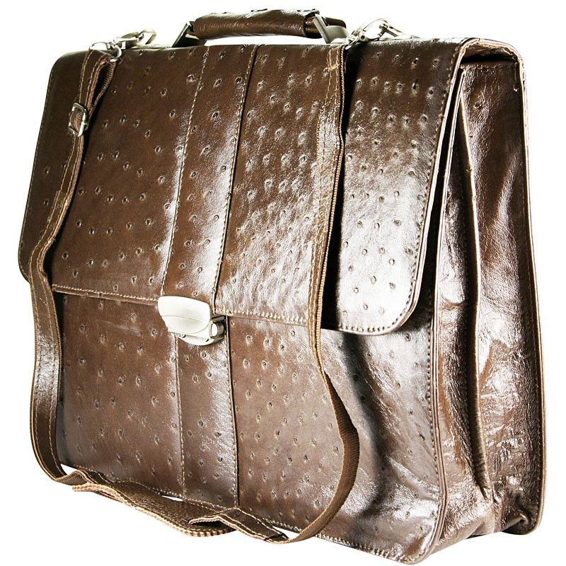 Oliver Genuine Ostrich Leather Bag