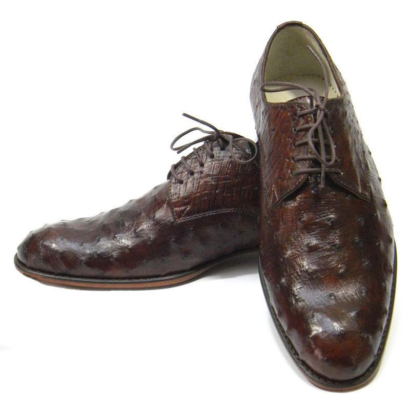 Genuine Ostrich Leather Mens Shoes 003