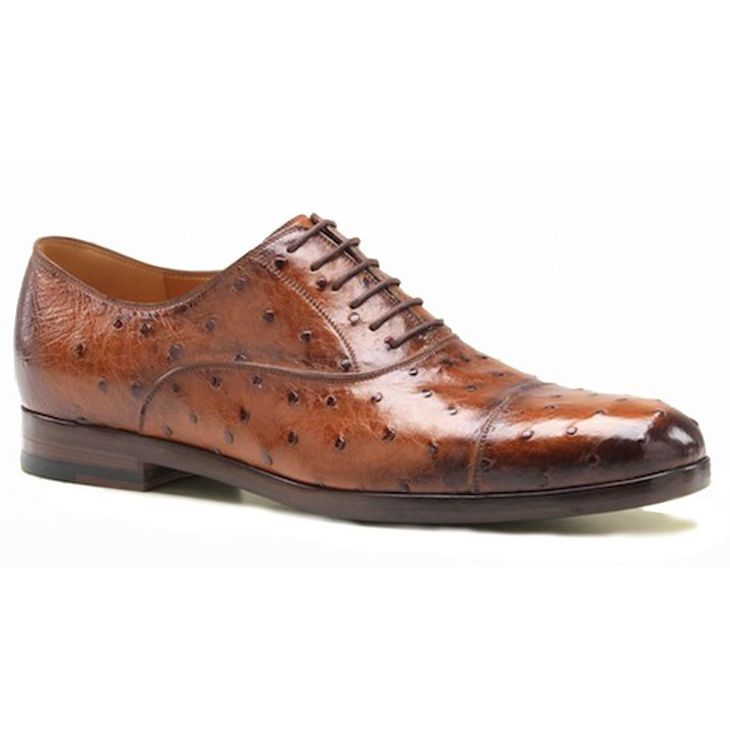Genuine Ostrich Leather Mens Shoes 001
