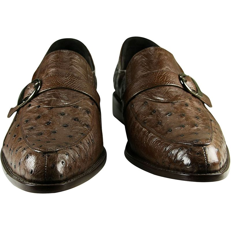 Genuine Ostrich Leather Mens Shoes 002