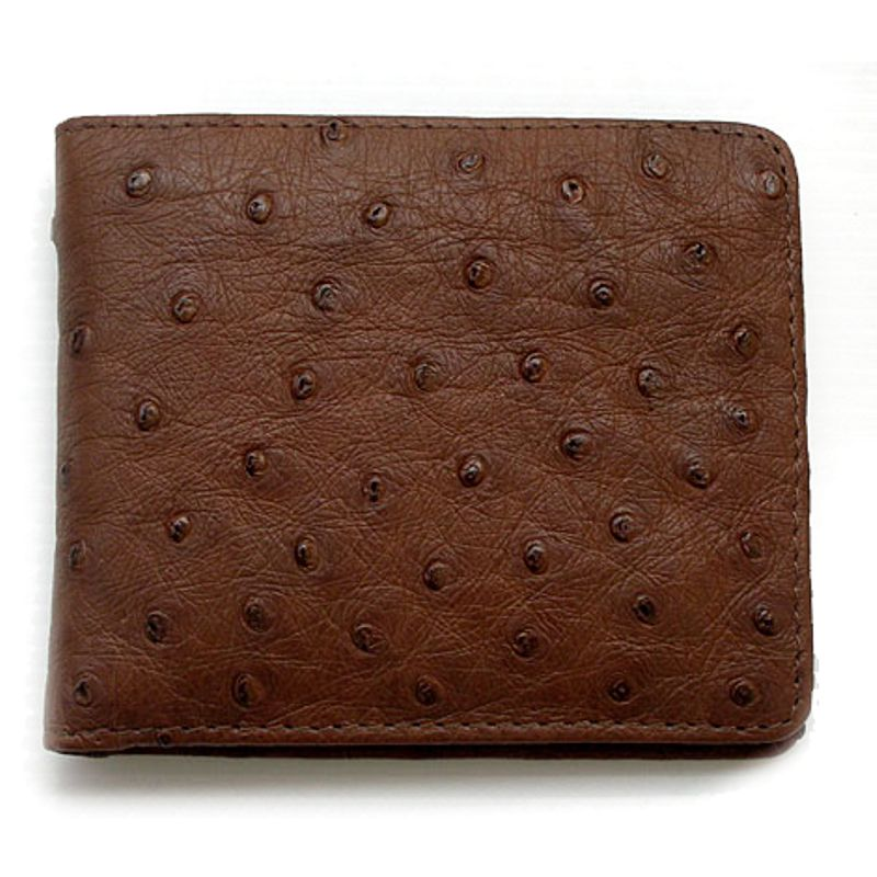 Genuine Ostrich Leather Mens Wallet 001