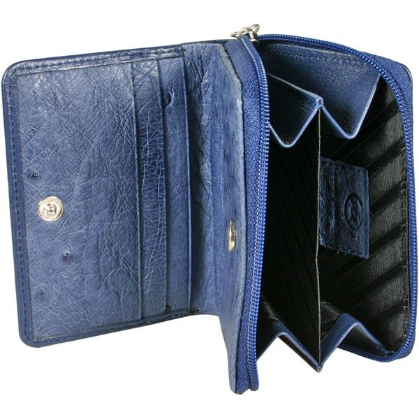 Genuine Ostrich Leather Wallet - inside