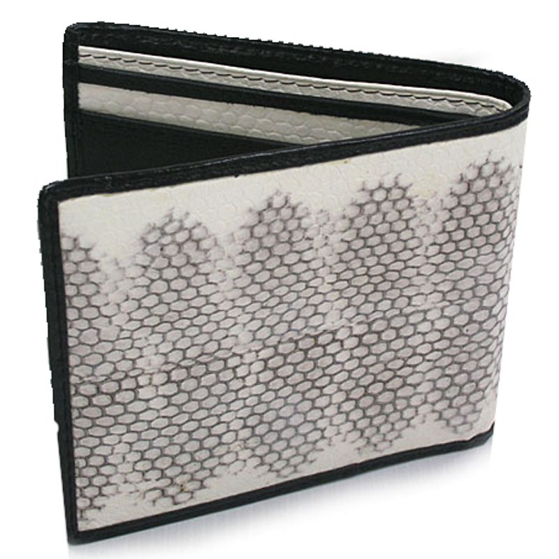 Genuine Sea Snake Leather Mens Wallet - white