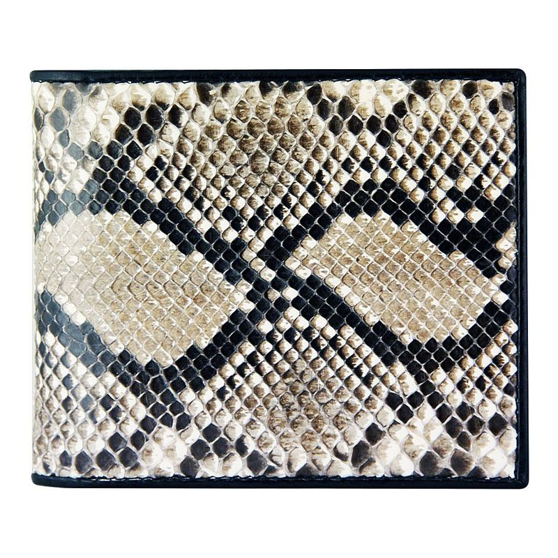 Genuine Python Snake Leather Mens Wallet - natur