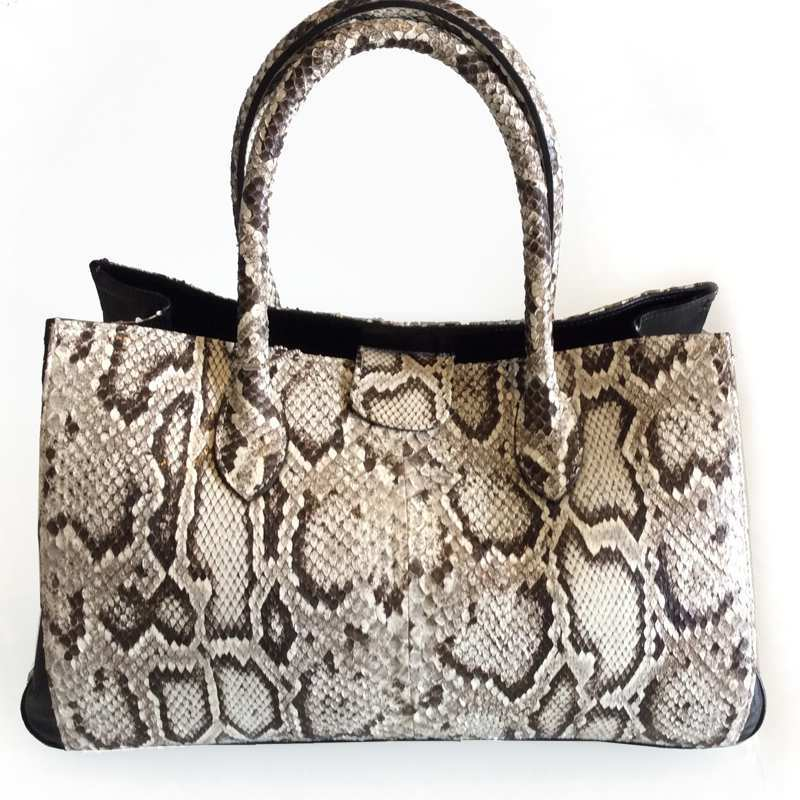 Larisa Cobra Snake Leather Ladies Handbag