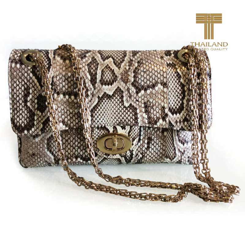 Jasmine Cobra Snake Leather Ladies Bag