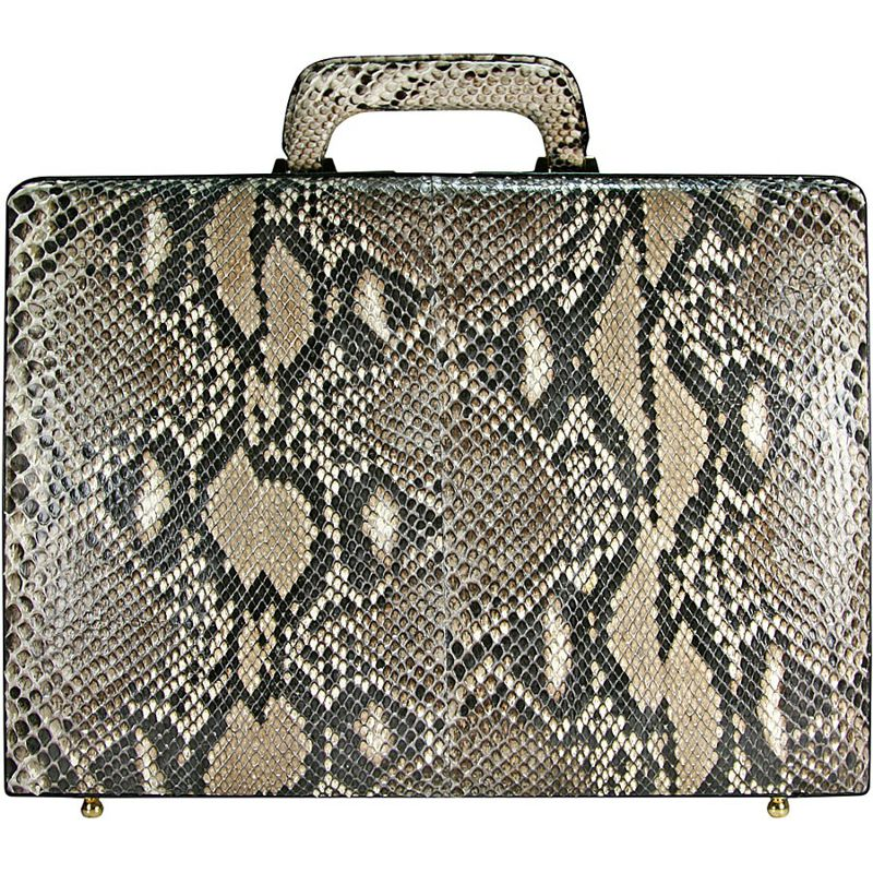 Tino Genuine Python Snake Leather Mens Briefcase