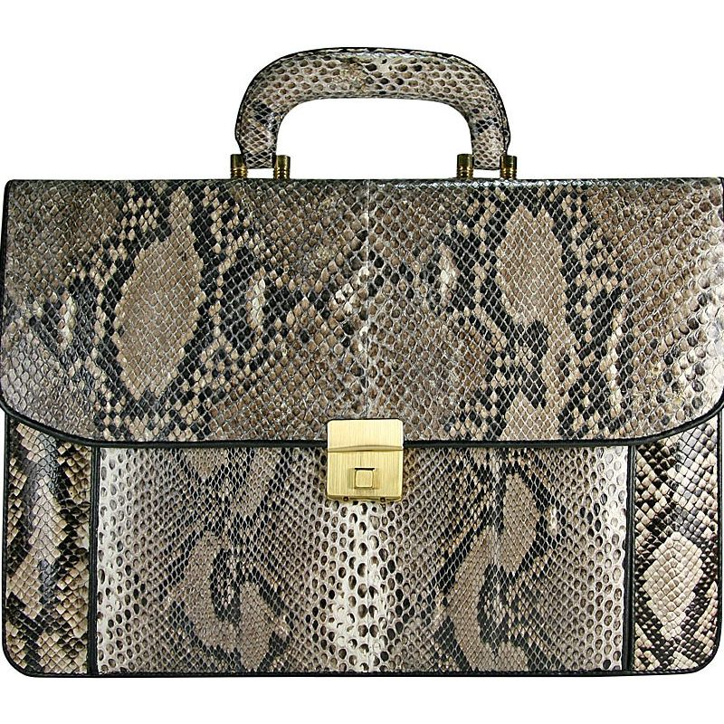 Vito Genuine Python Snake Leather Mens Bag