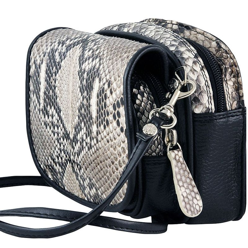 Marco Genuine Python Leather Mens Shoulder Bag - natur