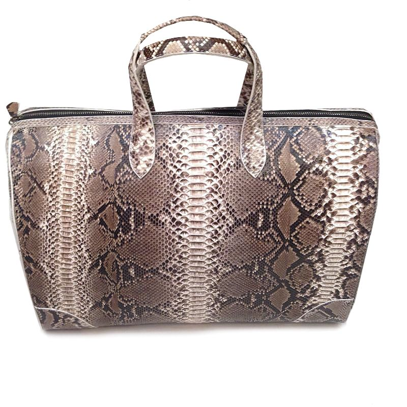 Anselmo Genuine Python Snake Leather Mens Bag