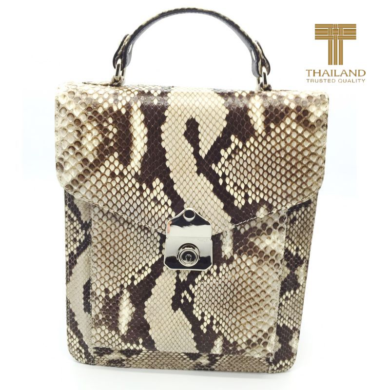 Giancarlo Genuine Python Snake Leather Mens Bag