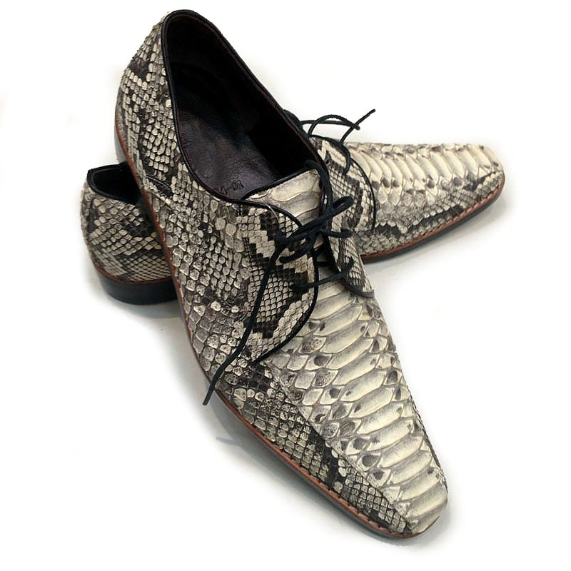 Genuine Python Snake Leather Mens Shoes 004