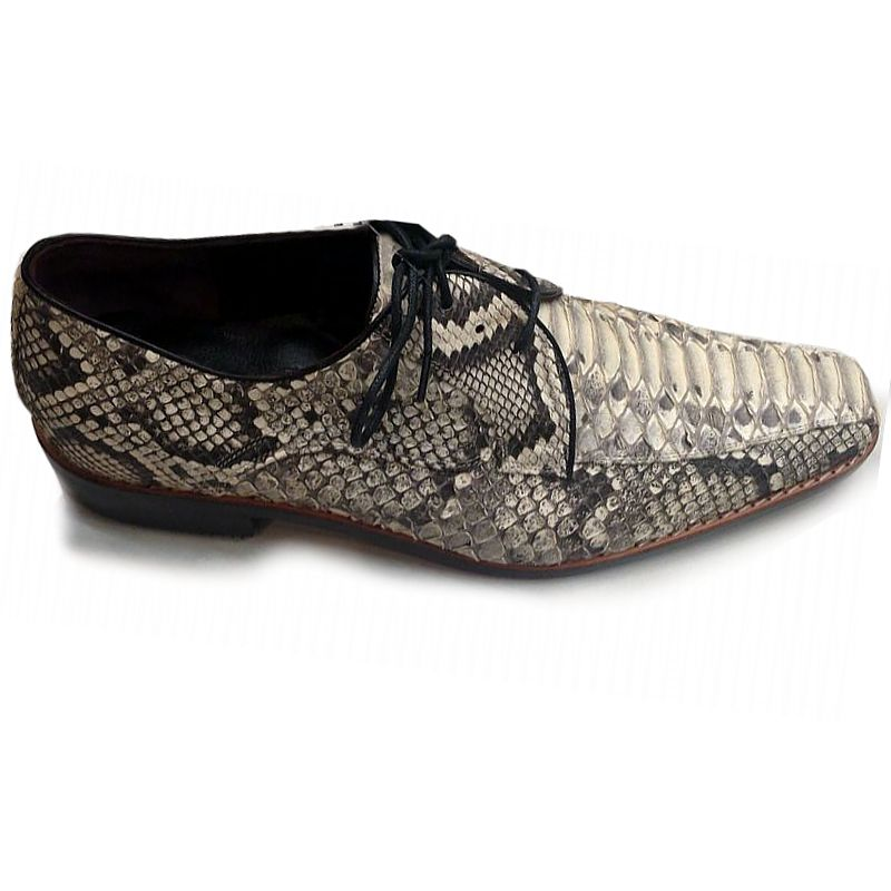 Genuine Python Snake Leather Mens Shoes - natur