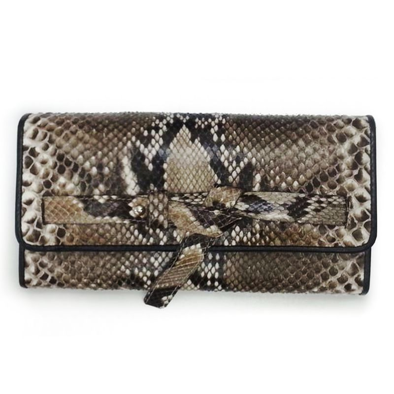 Genuine Snake Python Leather Ladies Wallet - natur
