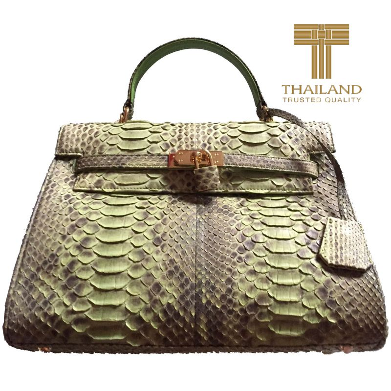 Janice Genuine Python Leather Ladies Handbag