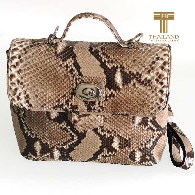Lora Snake Python Leather Bag