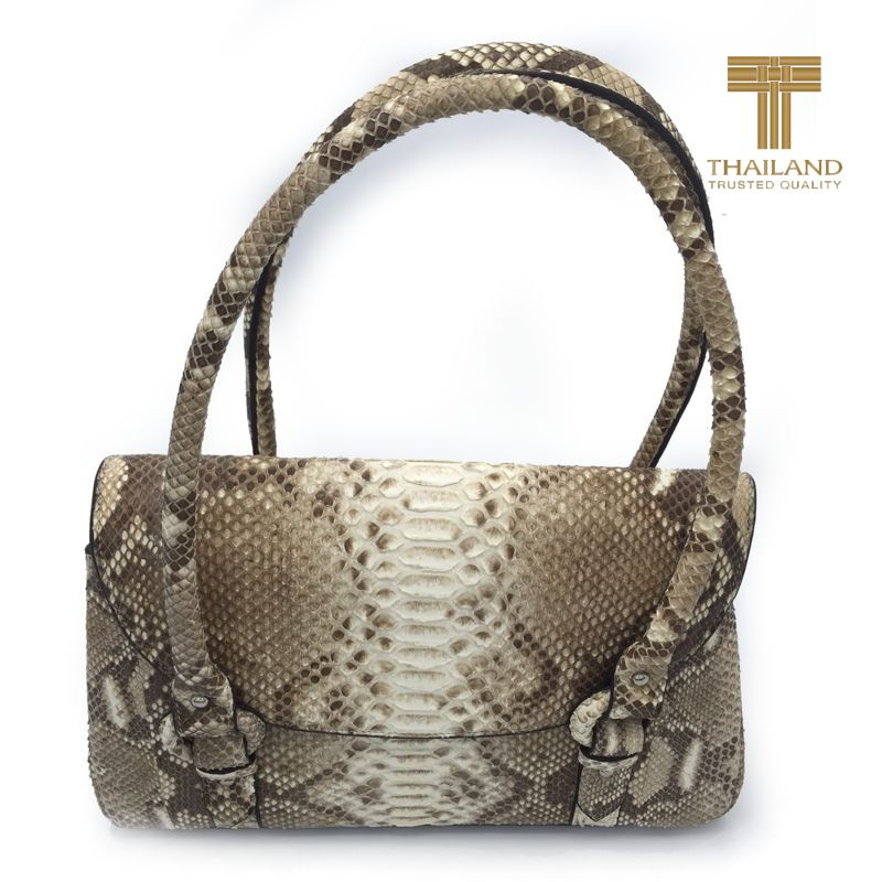 Agostina Genuine Python Leather Ladies Handbag
