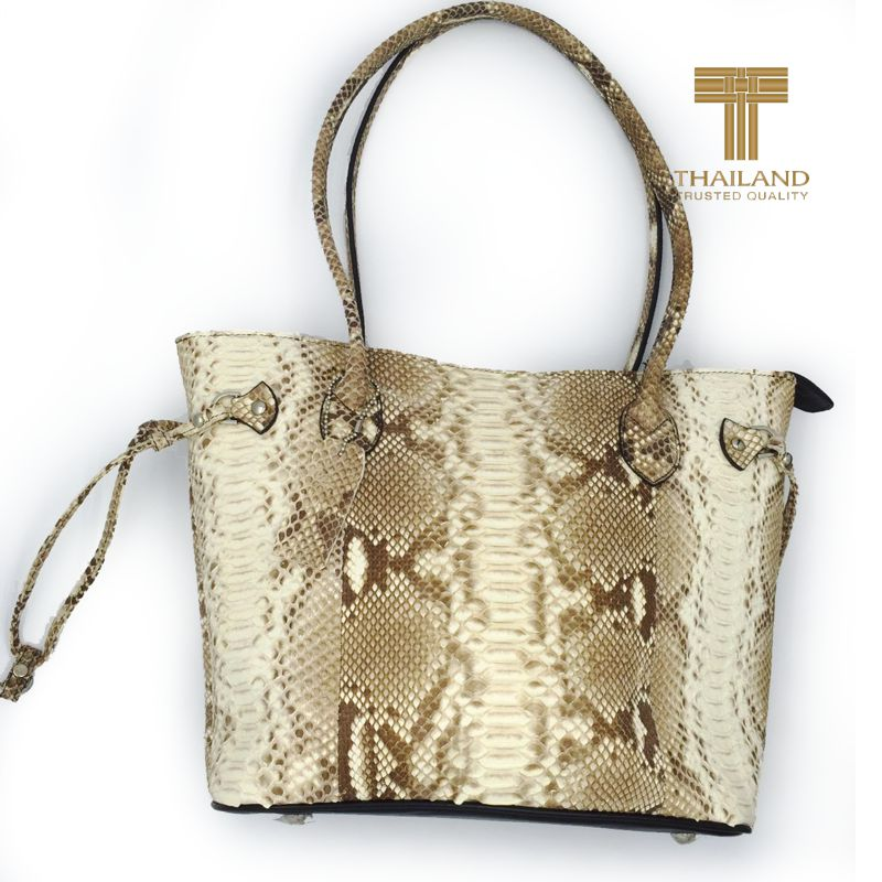 Trudy Snake Python Leather Shoulder Bag