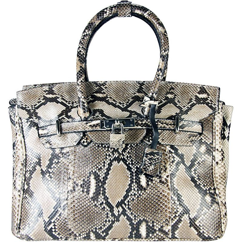 Marianne Snake Python Leather Bag - natur