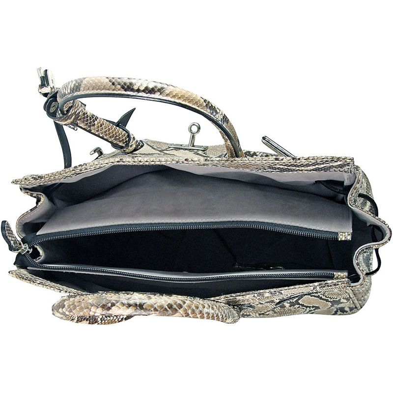 Marianne Snake Python Leather Bag - inside
