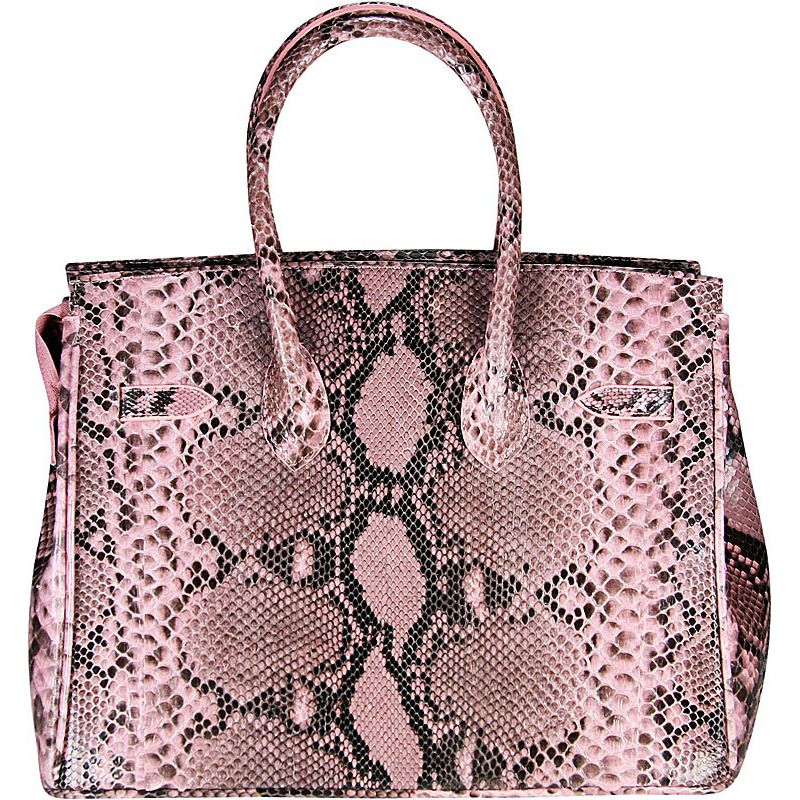 Marianne Snake Python Leather Bag - back side