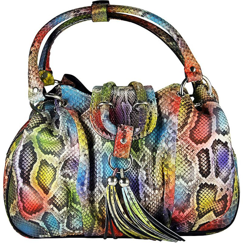 Wanda Snake Python Leather Ladies Rainbow Bag
