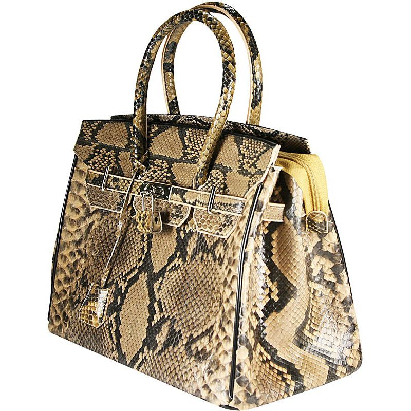 Marianne Snake Python Leather Bag - yellow