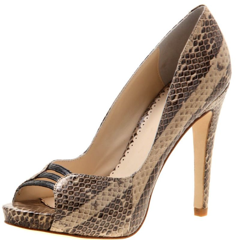 Cleo Genuine Python Snake Leather Ladies Shoes 001